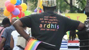 Ardhis benevole Aude raconte conditions accueil exile.e.s refugie.e.s migrant.e.s lgbt en france loi asile immigration