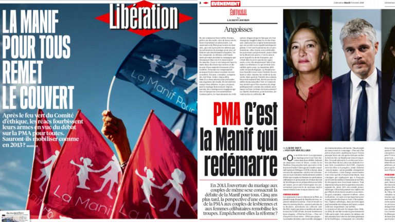 Libération PMA invisibilation Manif pour tous