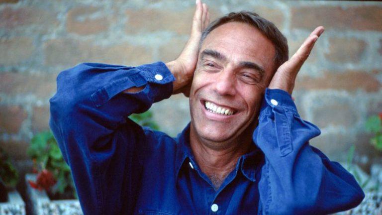 Le cinéaste britannique Derek Jarman à la Mostra de Venise en 1991