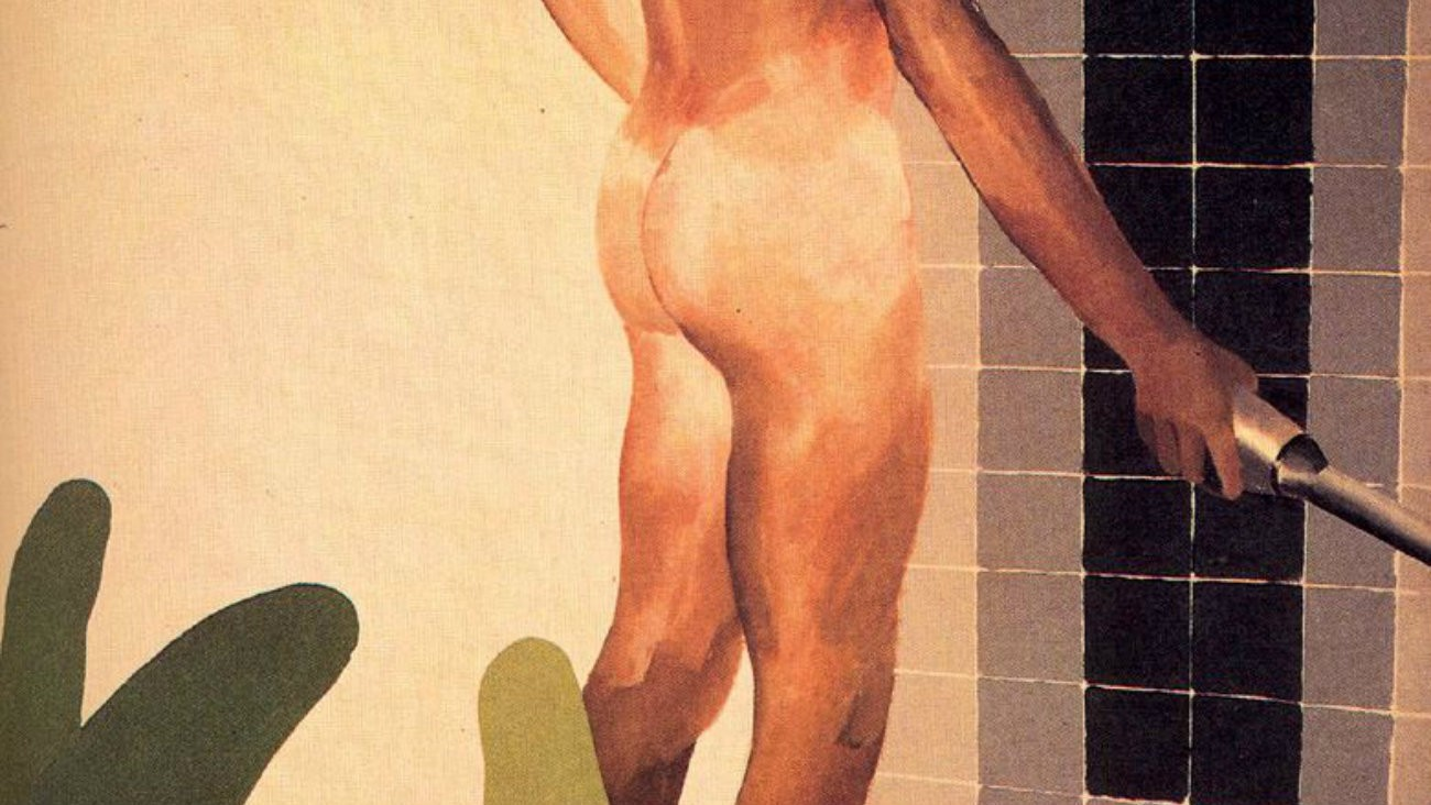 « Boy about to take a shower », David Hockney, 1964