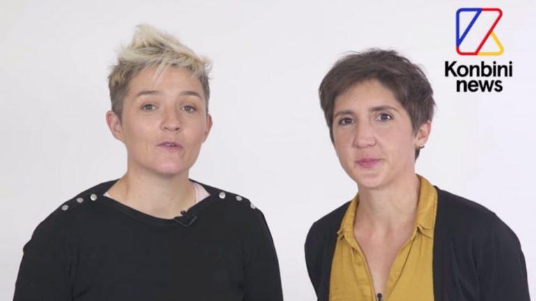 La journaliste d'Arte Marie Labory et son épouse Sophie Barbaroux, interrogée par Konbini News