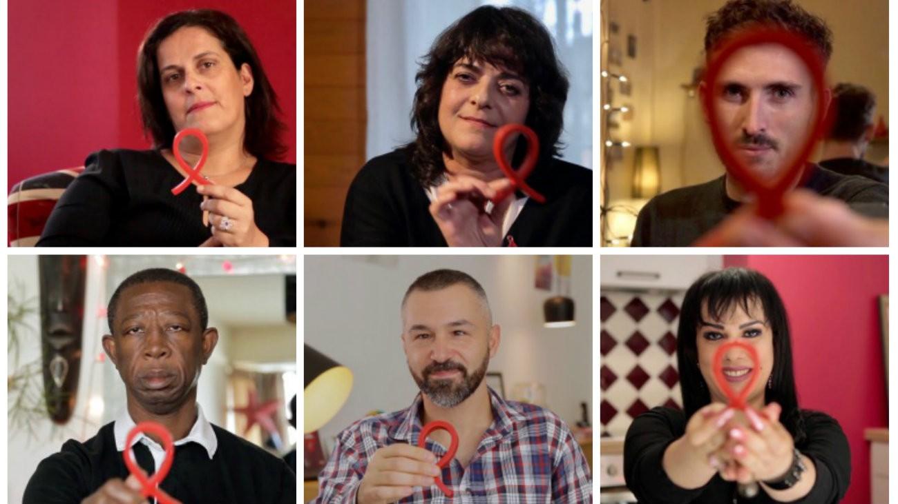 De gauche à droite et de haut en bas: Audrey, Giovanna, Jérémy, Bernard, Fred et Ramona - Le Crips