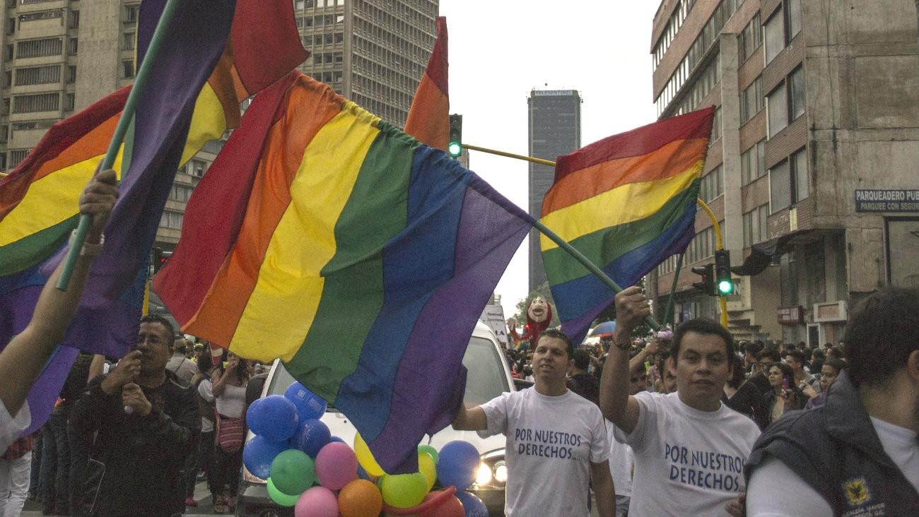 Photo prise en 2013 lors de la pride de Bogota -