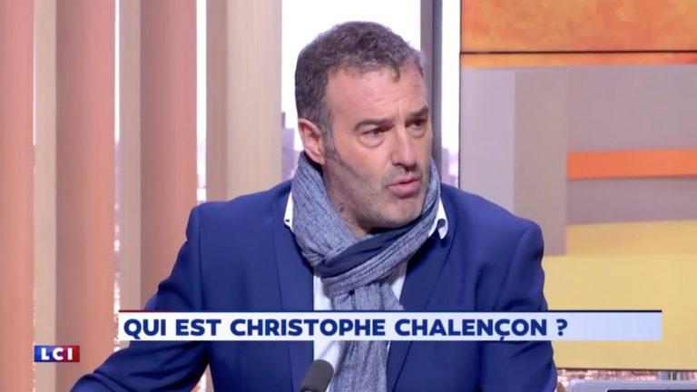 Christophe Chalençon sur le plateau de l'émission «Audrey & co » sur LCI lundi 10 décembre