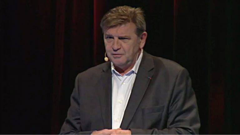 Jean-Marc Borello, président du groupe SOS, lors d'une intervention en 2015 -