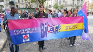 Marche pour la journée internationale de la bisexualité, 23 septembre 2017 à Paris