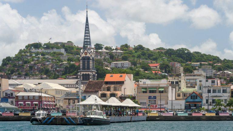 Une vue de Fort-de-France, en Martinique