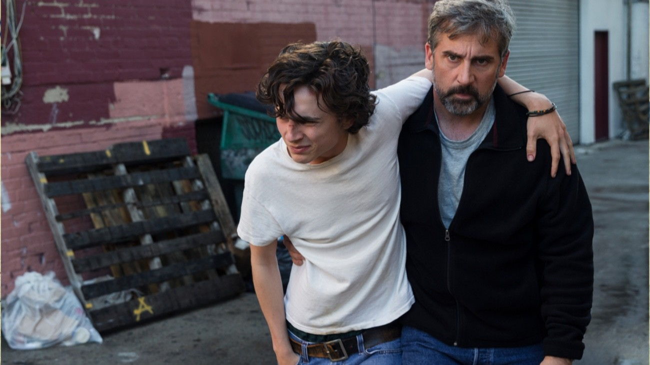 Timothée Chalamet et Steve Carell dans « My Beautiful Boy », de Felix Van Groeningen