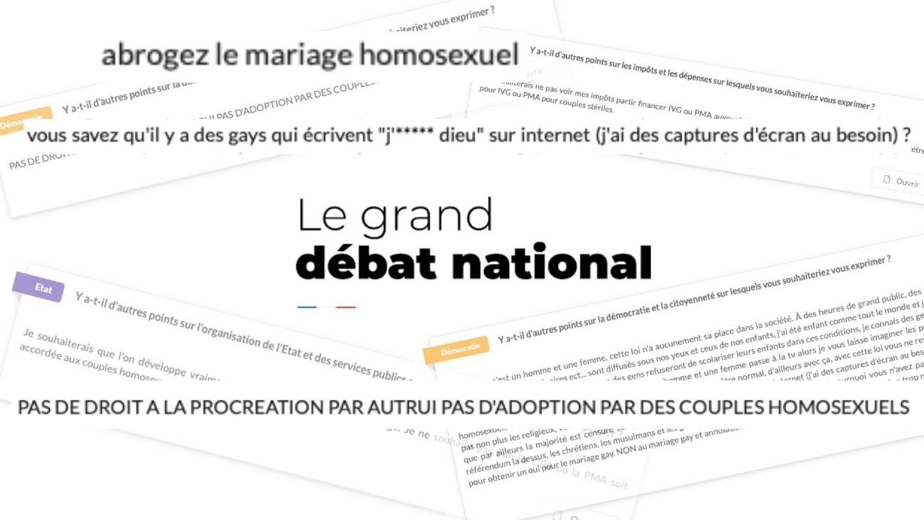 grand debat LGBT mots