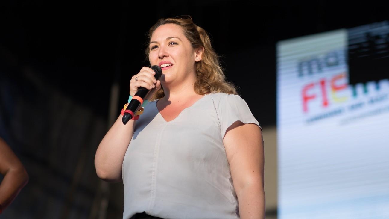 Hélène Bidard à la Marche des fiertés 2018 - Xavier Héraud