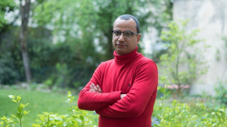 Mohammed Abdelnabi, auteur de « La Chambre de l'araignée, à Paris, le 16 avril 2019 - Xavier Héraud pour Komitid