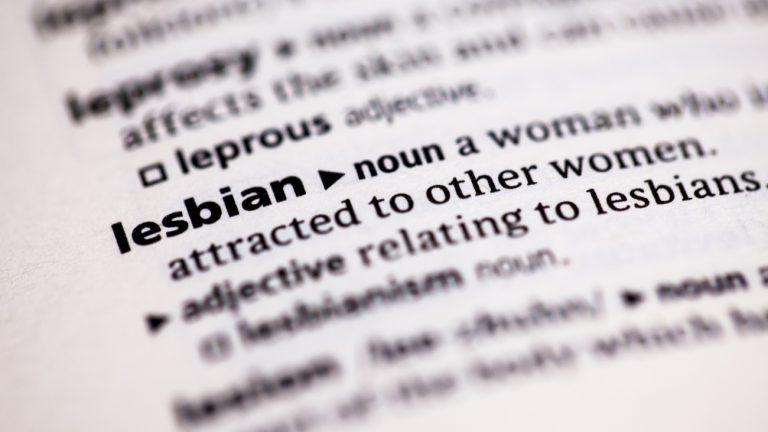 mot lesbienne dictionnaire