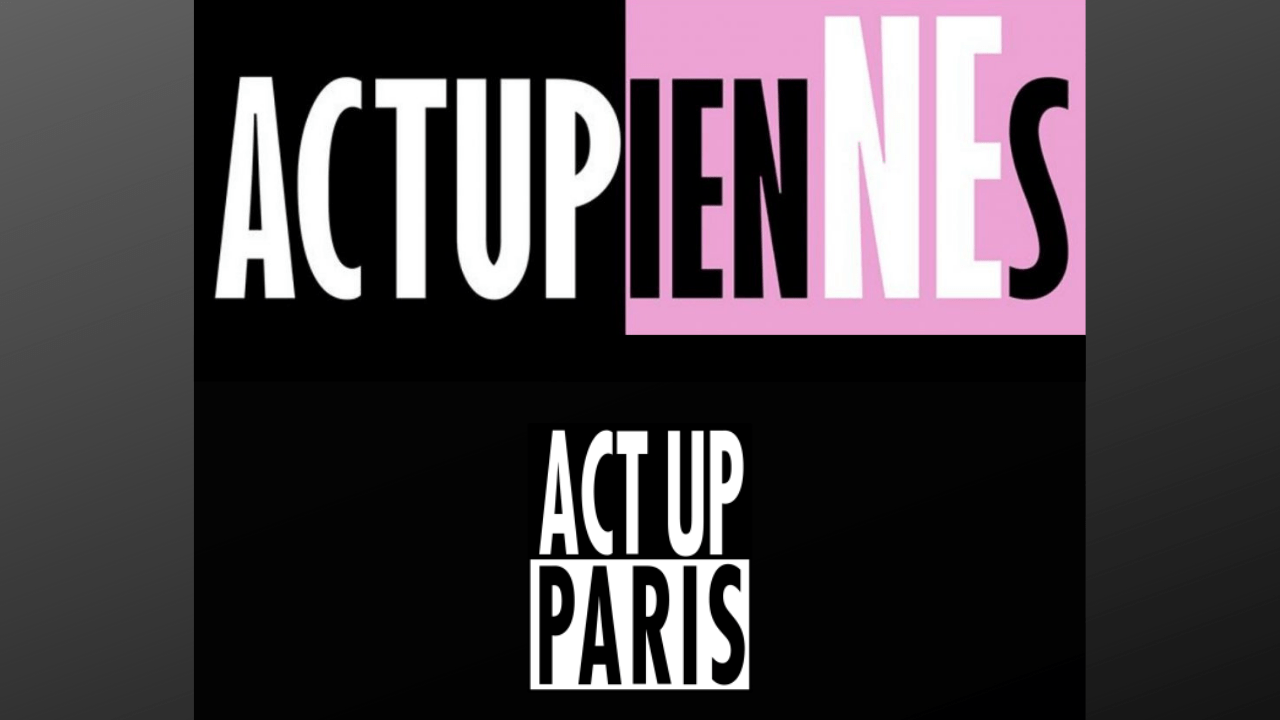 Le torchon brûle entre Act Up-Paris et les ActupienNEs - Logo des ActupienNEs (en haut) et d'Act Up-Paris (en bas) / Montage Komitid