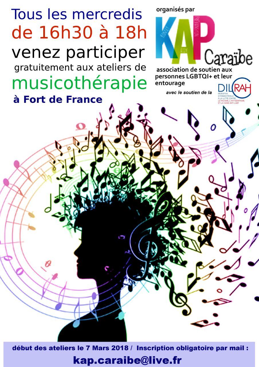 Visuel de KAP Caraïbe pour les ateliers de musicothérapie - KAP Caraïbe