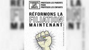 Tract pour la mobilisation de l'association Parents sans droits, le samedi 1er juin devant l'Assemblée nationale - Parents sans droits