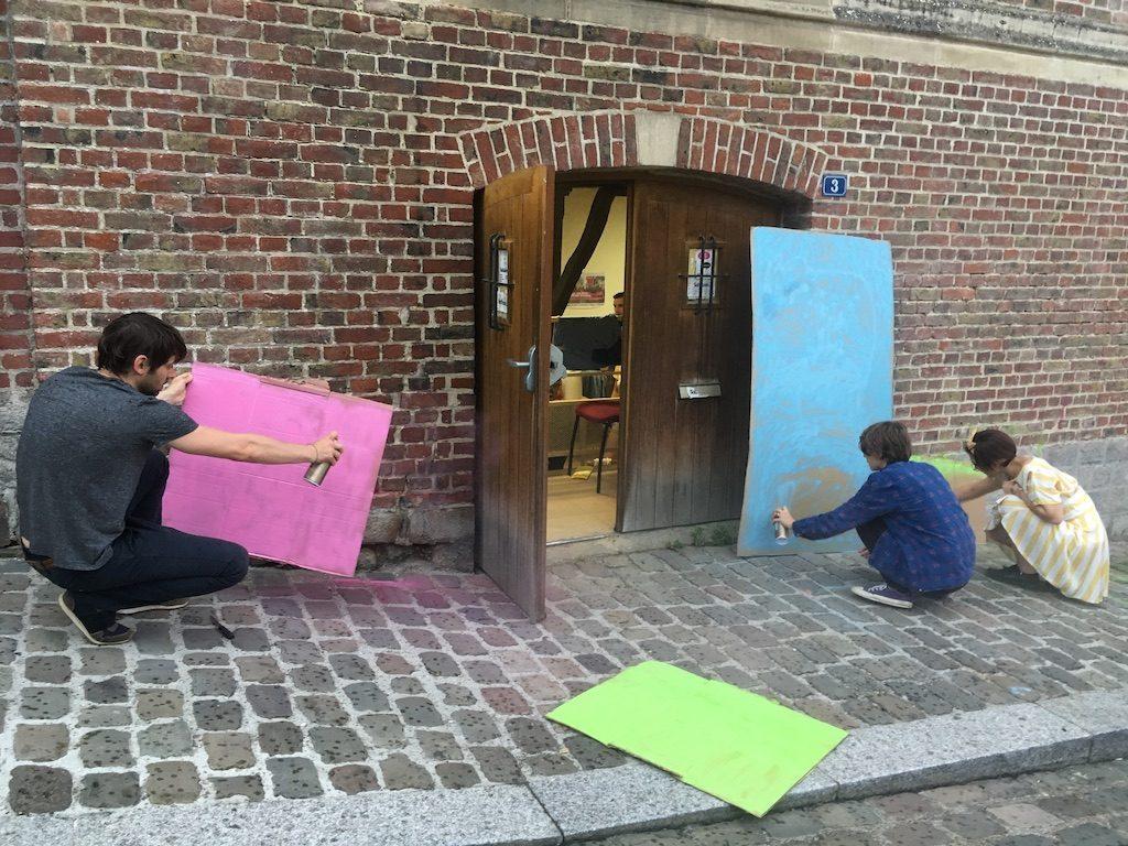 Préparation à la première Marche des fiertés, mercredi 19 juin - Philippe Peyre / Komitid