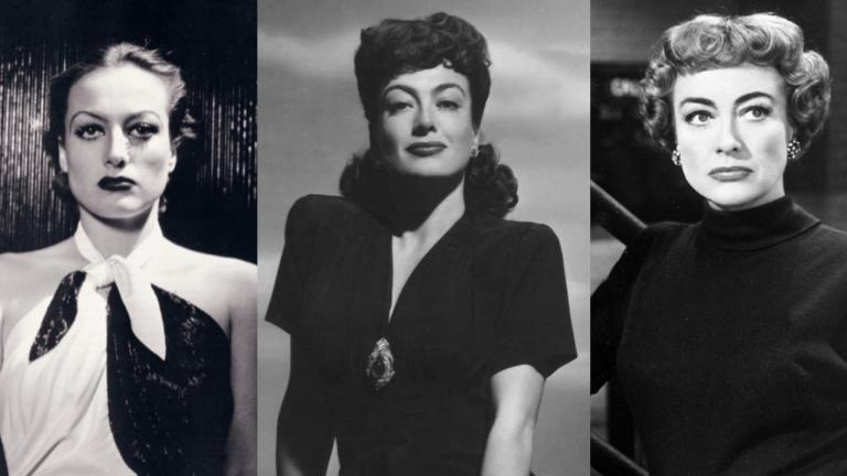 Trois images de l'actrice américaine Joan Crawford - DR