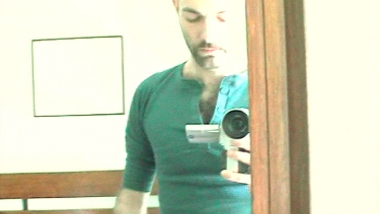 Guillaume Dustan se filmant - DR
