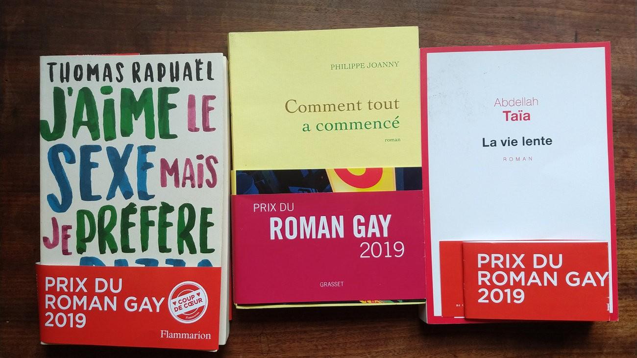 Les lauréats du Prix du roman gay 2019