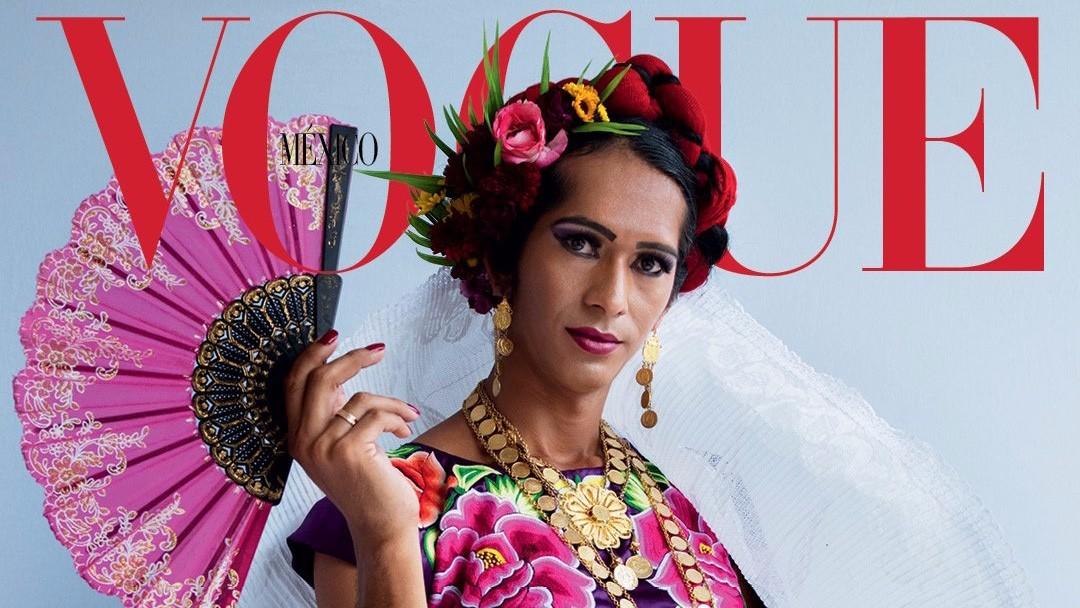 Détail de la couverture de Vogue avec Estrella Vasquez