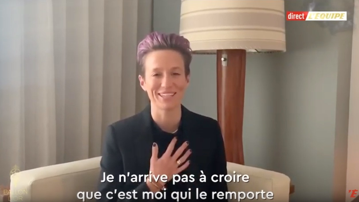 Megan Rapinoe ballon d'or