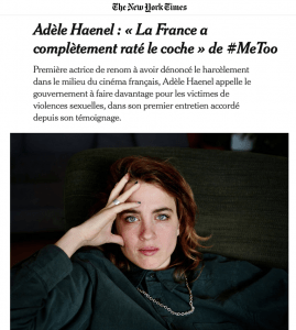 Adèle Haenel New York Times