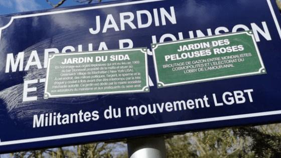 le jardin Marsha P. Johnson et Sylvia Rivera dégradé par des messages homophobes
