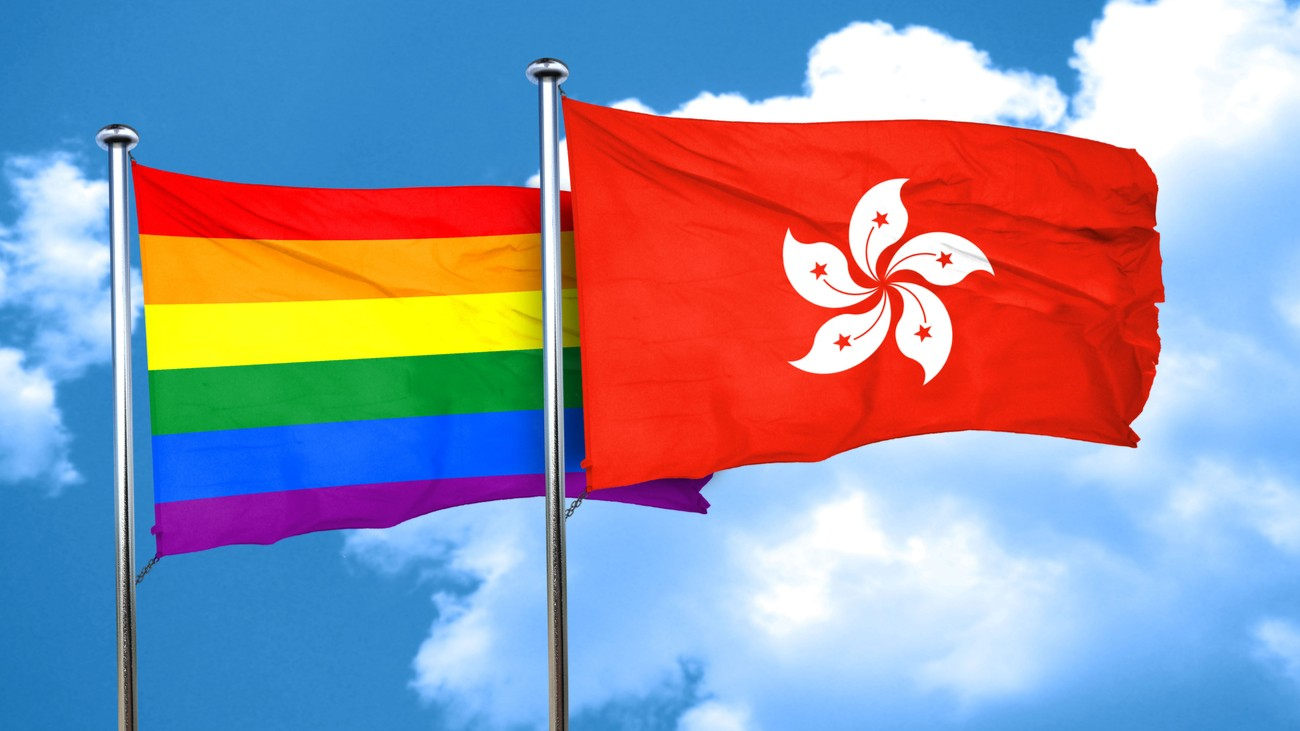 hong kong rainbow flag