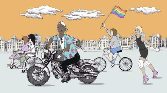 «Et la rue, elle est à qui? Elle est à nous!»: on vous raconte l'histoire des Goudou.e.s sur roues