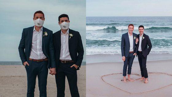 Le mariage masqué mais heureux de Mike et Alec au temps du Covid-19