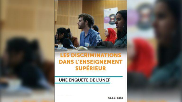 rapport unef discriminations