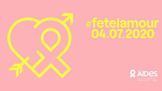Aides lance #fetelamour, pour dire oui à l'amour, non au sida!