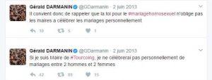 tweet gérald darmanin