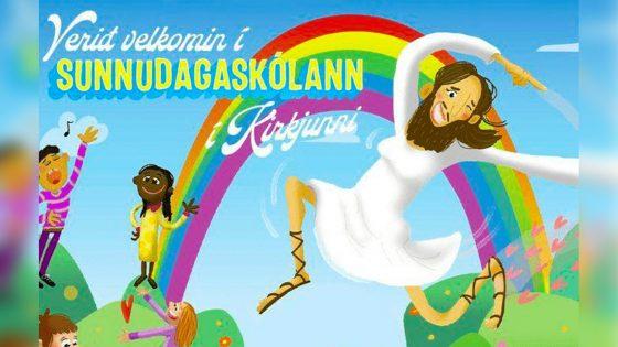 l'église supprime une affiche représentant le Christ comme genderqueer
