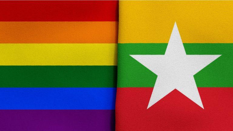 drapeau Birmanie Myanmar lgbt
