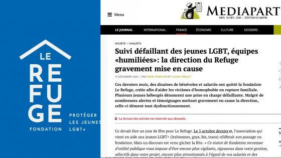 Mediapart publie une enquête accablante sur Le Refuge