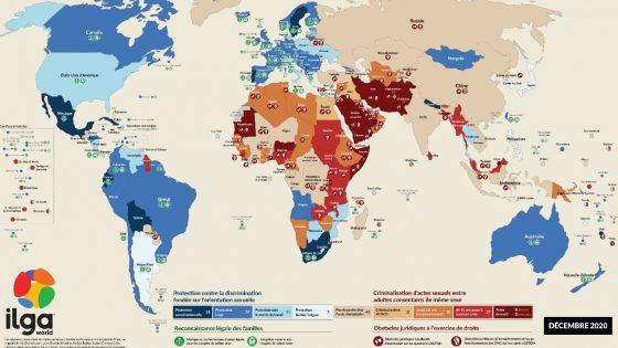 des progrès mais 69 pays criminalisent toujours les relations de même sexe