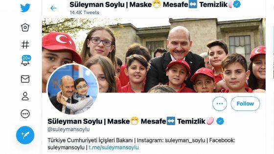 Turquie: un tweet du ministre de l'Intérieur signalé par Twitter pour propos LGBTphobes