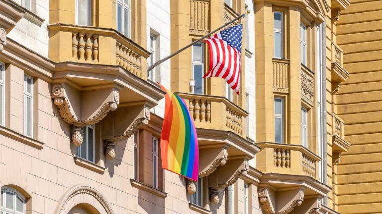 rainbow flag ambassade états-unis