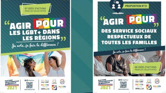 «Agir pour»: des associations LGBT+ se mobilisent pour les élections départementales et régionales