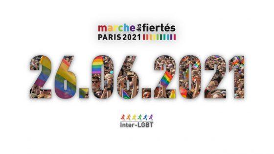 la Marche des Fiertés LGBTI+ aura lieu le 26 juin 2021
