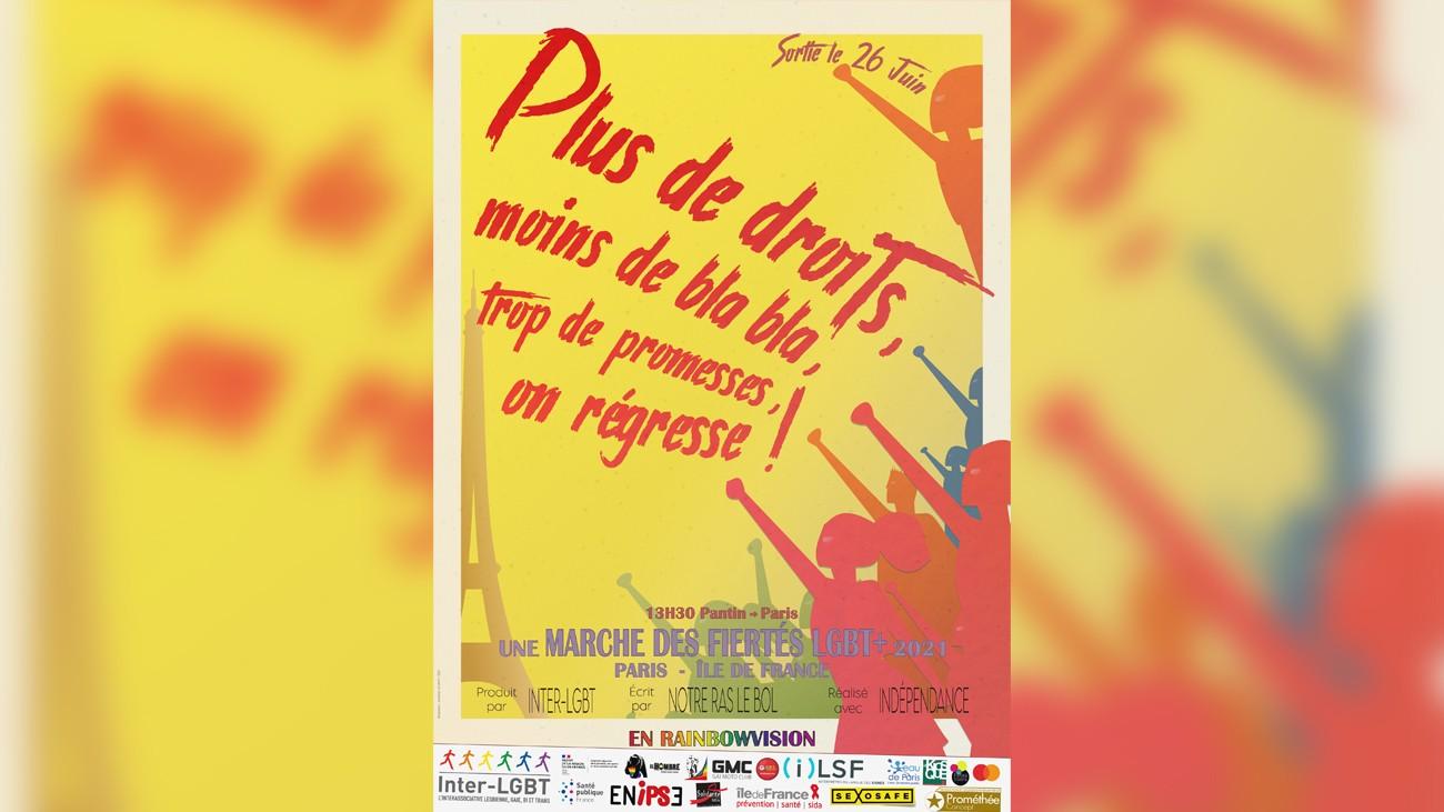 affiche marche des fiertés paris inter-lgbt