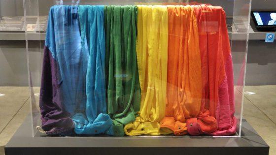 la GLBT Historical Society reçoit le seul vestige restant des deux premiers rainbow flags