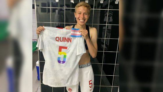 l'athlète canadien·ne Quinn devient la première personne trans non-binaire à gagner une médaille