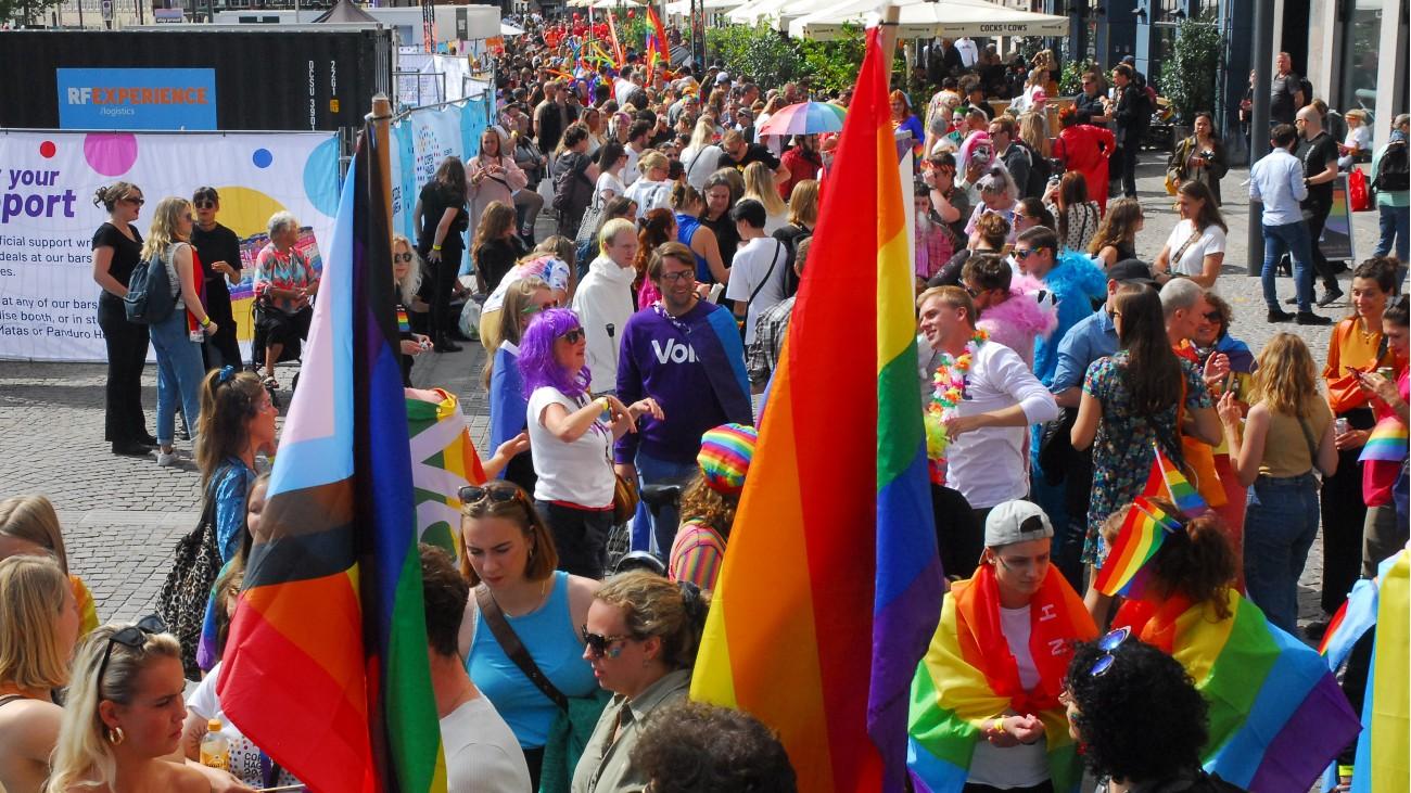 L'un des cortèges de la WorldPride Copenhague 2021