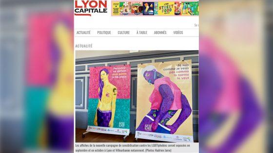 Des affiches anti-LGBTIphobies dans les rues de Lyon et Villeurbanne