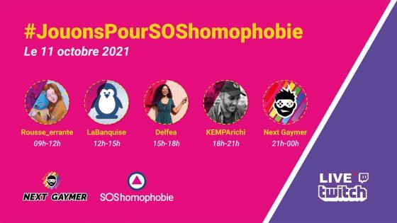 Journée du coming out: #JouonsPourSOShomophobie, l'évènement des gamers LGBTI+
